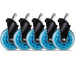 L33T Rubber wheels blue, 5-pack 160529 for L33T chairs