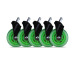 L33T Rubber wheels green, 5-pack 160531 for L33T chairs
