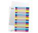 LEITZ Register PC-beschriftbar A4+ 12450000 WOW, 1-20 multicolor