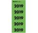 LEITZ Jahreszahl Etikette 14190055 2019 grün, 100 Stück