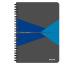 LEITZ Collegeblock Office Card A5 44580015 gelb kariert
