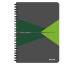 LEITZ Collegeblock Office Card A5 44590055 grün liniert