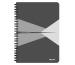 LEITZ Collegeblock Office Card A5 44590085 grau liniert