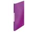 LEITZ Sichtbuch WOW PP A4 46320062 violett 40 Hüllen