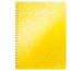 LEITZ Spiralbuch WOW PP A4 46370016 gelb 80 Blatt