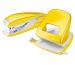 LEITZ Locher/Hefter WOW 50951216 gelb, Bundle
