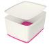 LEITZ MyBox Gross, mit Deckel 18lt 52161023 weiss/pink