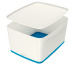 LEITZ MyBox Gross, mit Deckel 18lt 52161036 weiss/blau