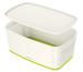 LEITZ MyBox Klein, mit Deckel 5lt 52291054 weiss/grün