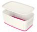 LEITZ MyBox Klein, mit Deckel 5lt 52291023 weiss/pink