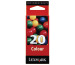 LEXMARK Tintenpatrone 20 HY color 15MX120E Color Jetprinter Z51 315 S.
