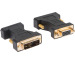 LINK2GO Adapter DVI-A - VGA AD2111BB male-female