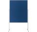 MAGNETOP. Moderationstafel Filz blau 1151103 ungeteilt, mobil 1200x1500mm