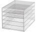 MAUL Schubladenbox Acryl A4 1950605 5 Fächer