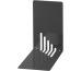 MAUL Bücherstützen 14x8,5x14cm 3501090 schwarz, Metall 2 Stück