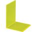 MAUL Buchstütze 10x10x13cm 3513611 transparent gelb 2 Stück
