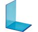 MAUL Buchstütze 10x10x13cm 3513631 transparent blau 2 Stück
