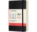 MOLESKINE Tageskalender P/A6 606341 2021 1T/S, schwarz SC