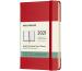 MOLESKINE Wochen-Notizkalender P/A6 606440 2021 1W/S,lin. scharlachr. HC