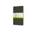 MOLESKINE Cahier L/A5, 3x, Blanko 855297 Myrtengrün 3 Stück