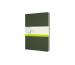 MOLESKINE Cahier XL, 3x, Blanko 855358 Myrtengrün 3 Stück