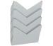 ORNALON Wandfach A4 R14504750 grau 4 Fächer
