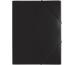 PAGNA Gummizugmappe A4 21613-01 schwarz PP 3 Einschlagklappen