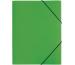PAGNA Gummizugmappe A4 21613-05 grün PP 3 Einschlagklappen