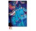 PAPERBLAN Agenda 21 Katzen/Schmetterl. DD6712-2 3 T/S,Midi blau 130x180mm