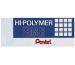 PENTEL Radierer Hi-Polymer ZEH10ST weiss 65x24,5x12,5mm