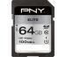 PNY Elite SDXC Card R100MB/s 64GB PSD64GU11