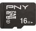 PNY Performance Plus 16GB PSDU16G10 MicroSD HC Card Cl.10