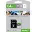 PNY micro-SDXC Elite 64GB PSDUX64U1 UHS-I U1 & adapter