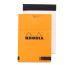 RHODIA Notizblock 85x120mm 122011 liniert orange