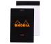 RHODIA Notizblock 85x120mm 126009 liniert schwarz
