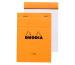 RHODIA Notizblock orange A6 13600 liniert 80 Blatt