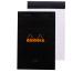 RHODIA Notizblock 110x170mm 146009 liniert schwarz