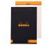 RHODIA Notizblock A5 162008 blanko schwarz