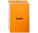 RHODIA Notizblock orange 210x318mm 20200 kariert 80 Blatt