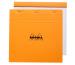 RHODIA Notizblock 210x210mm 210200 kariert orange