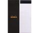 RHODIA Notizblock schwarz 74x210mm 82009 kariert 80 Blatt