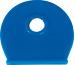 RIEFFEL Schlüsselkappen 8009FS D blau 100 Stück