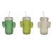 ROOST Trinkglas Kaktus 350ml 10021747 grün, olive, beige 11x14x7cm