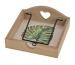 ROOST Servietten-Halter 18x15x18cm 10022345 Tropical, natur, grün