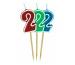 ROOST Kerze Zahl 2 10762 rot, grün, blau 9x2.5cm