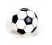 ROOST Sparkasse Fussball klein 16042 schwarz/weiss 7cm