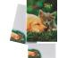 ROOST Papier/Couverts Cat and Dog 180357 80g, grün/gelb 2x10 Stück