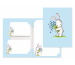 ROOST Papier/Couverts Häschen 180404 80g, hellblau/weiss 2x10 Stück