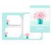 ROOST Papier/Couverts Millefleurs 180405 80g, türkis/rosa 2x10 Stück