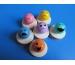 ROOST Jetball Gesichter,klein 336329 farbig, 2.7cm
